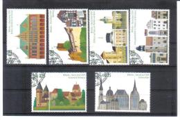 VNG869 UNO WIEN 2009 MICHL 599/604 MARKENHEFTMARKEN WELTERBE DEUTSCHLAND Used/gestempelt - Wien - Internationales Zentrum