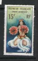 POLYNESIE 1969 DANSEUSES  YVERT  N°A7 OBLITERE - Poste Aérienne