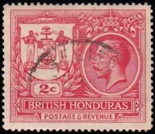 BRITISH HONDURAS - Scott #89 George V (*) / Used Stamp - British Honduras (...-1970)