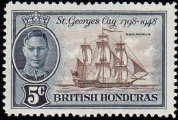 BRITISH HONDURAS - Scott #134 H.M.S. Merlin / Mint LH Stamp - British Honduras (...-1970)