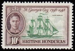 BRITISH HONDURAS - Scott #135 H.M.S. Merlin / Mint LH Stamp - British Honduras (...-1970)