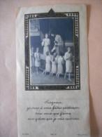 """IMAGE Ancienne Rhodoïd COMMUNION """"Chapelle De Nazareth - Cécile TRAN VAN - 1935"""" - Religion & Esotericism"""
