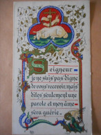 IMAGE COMMUNION -enluminure-Françoise FLAHUTEZ Eglise St Symphorien VERSAILLES - 1955 - Religion & Esotérisme