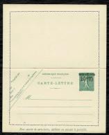Entier Postal (004) 15 C Vert Semeuse . Carte Lettre Neuf Avec Taxe Réduite à 0f10 - Entiers Postaux