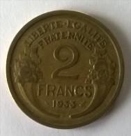 2 Francs 1933 - Morlon - TTB - - I. 2 Francs
