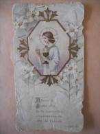 """IMAGE Pieuse Ancienne COMMUNION """"Robert BENARD Eglise De PAVILLY - 1909 (Dom GUERANGER) - Religion & Esotérisme"""