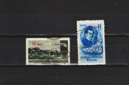 1952 -  PEINTRE ION ANDREESCU  Mi No1313/ 1314 Et Yv No 1239/1240 - Usado