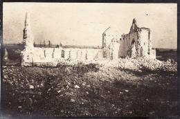 Photo Septembre 1917 SAINTE-MARIE-A-PY (près Suippes) - L´église (A135, Ww1, Wk 1) - France