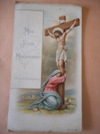 """IMAGE Pieuse Ancienne """"100 JOURS D'INDULGENCE"""" -Prière Au Dos- A & M 1899 - Religión & Esoterismo"""