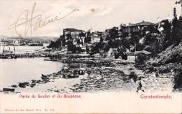 CONSTANTINOPLE : SCUTARI Et BOSPHORE - CARTE VOYAGÉE Par POSTE Du LEVANT ITALIEN / ITALIAN STAMP ~ 1900 - RARE ! (t-833) - Türkei