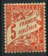 ANDORRE ( TAXE ) :  Y&T N°  20  TIMBRE   NEUF  AVEC  TRACE  DE  CHARNIERE , A  VOIR .
