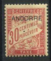 ANDORRE ( TAXE ) :  Y&T N°  3  TIMBRE   NEUF  AVEC  TRACE  DE  CHARNIERE , A  VOIR .