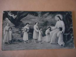"""IMAGE COMMUNION """"Huguette Et Régine AURRAN - Pensionnat Jeanne D'Arc 1934 - Religion & Esotérisme"""