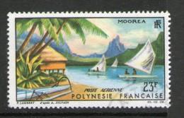 POLYNESIE 1969 MOOREA  YVERT  N°A9 OBLITERE - Poste Aérienne