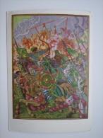 "Bilibin ""Kulikov Battle"" -  Arch - Old Soviet Postcard - Archer - Archery 1961 - Tir à L'Arc"