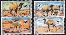MONGOLIE WWF, Chameaux Yvert 1361/64 ** Neuf Sans Charniere. MNH - W.W.F.