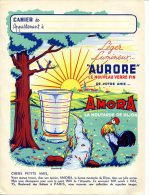 PR. CAHIER Amora - Thèmes : Coq, Arbre, Ruisseau, Lapins, Ours Blanc, Verre - Copertine Di Libri