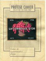 PR. CAHIER Vin La Corbeille D'Or- Thèmes : Raisin, Vin, Carte De France, Départements - Protège-cahiers