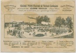 Levallois Neuilly Velodrome Trousselier Né A Levallois Pub Velo Pneu 1891 Cronstadt Russie Et Toulon 1893 Drapeau Tsar - Levallois Perret