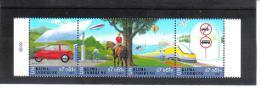 VNG521 UNO WIEN 2001  MICHL 346/49 VIERERSTREIFEN ** Postfrisch Siehe ABBILDUNG - Wien - Internationales Zentrum