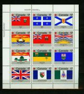 Canada 1979,12V In Sheet,flags,banners,vlaggen,drapeaux,flaggen,MNH/Postfris(L2223) - Vlag
