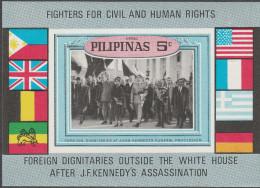 """PHILIPPINEN Block I(XIV) """"Opfer Des Gewaltlosen Widerstandes John F.Kennedy"""" MNH / ** / Postfrisch - Philippinen"""
