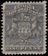 RHODESIA British South Africa Company - Scott #2 Coat Of Arms / Used Stamp - Great Britain (former Colonies & Protectorates)