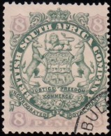 RHODESIA British South Africa Company - Scott #32 Coat Of Arms / Used Stamp - Great Britain (former Colonies & Protectorates)