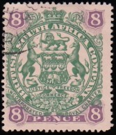 RHODESIA British South Africa Company - Scott #56 Coat Of Arms / Used Stamp - Great Britain (former Colonies & Protectorates)