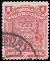 RHODESIA British South Africa Company - Scott #60 Coat Of Arms / Used Stamp - Great Britain (former Colonies & Protectorates)