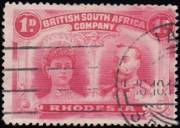 RHODESIA British South Africa Company - Scott #102 Queen Mary & King George V / Used Stamp - Great Britain (former Colonies & Protectorates)