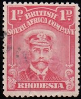 RHODESIA British South Africa Company - Scott #120b King George V (*) / Used Stamp - Great Britain (former Colonies & Protectorates)