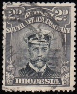RHODESIA British South Africa Company - Scott #122 King George V / Used Stamp - Great Britain (former Colonies & Protectorates)