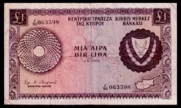 Cyprus 1 Pound 1972 F - Chypre