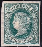 1866 CUBA 15 ISABEL II NUEVO PRECIOSO SPANISCHE GABIETE COLONIES SPAIN ESPAGNE SPANIEN SPANJE - Kuba (1874-1898)