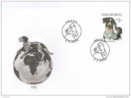 FDC  2016 :  Chien Tâcheté Tchèque , Czech Dog - FDC