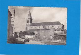 CPA   - 1. ABSCON - L´église - Belle Renault 4 Cv  - éditeur Morelle Triquoit - Autres Communes
