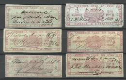 BELGIEN Belgium 1870ies ? Old Revenue Stamps Steuermarken O - Revenue Stamps