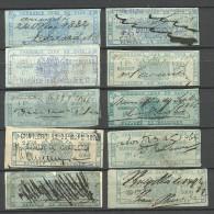 BELGIEN Belgium 1860/80ies Old Revenue Stamps Steuermarken O - Revenue Stamps