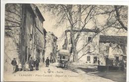 C P A  -  VARAGES  Place  CASSENDI  Dèpart Du Courrier - France