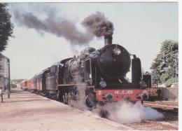 Thème Trains Chemin De Fer  - TRAIN EN GARE DE RICHELIEU - ACHINE 141 C 100 DE 1922 - Stations With Trains