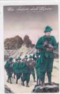 CARD ALPINI  UN SALUTO DALL'ALPINO FUCILI GIBERNE -FP-N-2-0882-25158 - Militaria