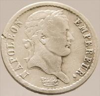 Demi Franc - Napoléon 1er - France - 1808 W - Lille  - Argent - TB+ - - Francia