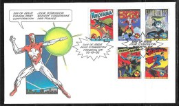 CANADA,  1995, # 1579-83, OFDC COMIC BOOK SUPERHEROES      MNH - 1991-2000