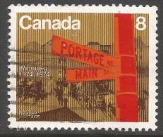 Canada. 1974 Winnipeg Centennial. 8c Used. SG 775 - 1952-.... Reign Of Elizabeth II