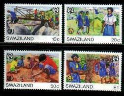 SWAZILAND, 1985, Mint Never Hinged Stamps, Scouts, 490-493, #6687 - Swaziland (1968-...)