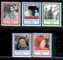 SWAZILAND, 1986, Mint Never Hinged Stamps, Queen Elizabeth II, 499-503, #6689 - Swaziland (1968-...)