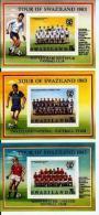 SWAZILAND, 1983, Mint Never Hinged Blocks Nr6,7,8, Football, 429-431, F2359 - Swaziland (1968-...)
