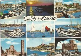 O2044 Saluti Da Anzio (Roma) - Barche Boats Bateaux - Panorama - Vedute - Multipla / Viaggiata 1970 - Altre Città