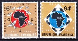 RWANDA 1973 YT N° 535 à 537 ** - 1970-79: Mint/hinged